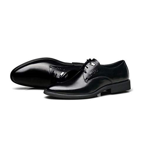 Estilo Fuweiencore Los Para Se Cuero Días 38 Grandes Negocios Hombres Británico Zapatos Como Con De Todos Puntiaguda Muestra Punta Negro Vestidos Zapatos Hombres 1aarnzxg