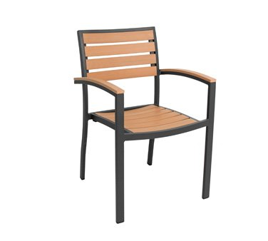 Florida Seating Cedar Key Side Arm Chair stackable - - Florida Seating