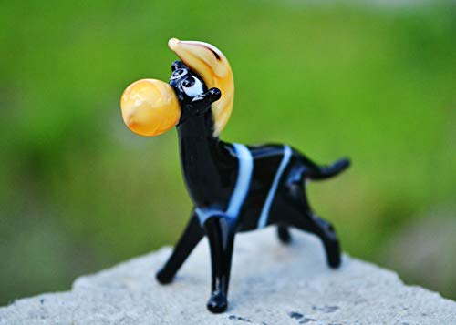 - Black Glass Horse Animal Collector Art Paperweight Sculpture Children Figurines Cute Animal Desk Paperweight Dollhouse Animal Fantasy Horse