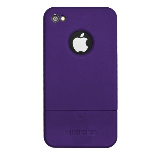Seidio CSRSIPH4-PR SURFACE Reveal Case  for  Apple iPhone 4/4S - Amethyst 1-Pack - Retail Packaging - Amethyst ()