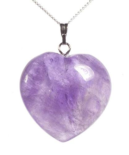 - You are My Only Love Natural Amethyst Necklace Healing Crystals Reiki Chakra 18-20 Inch Gemstone Pendant Heart Necklace Great Gift #GGP8-9