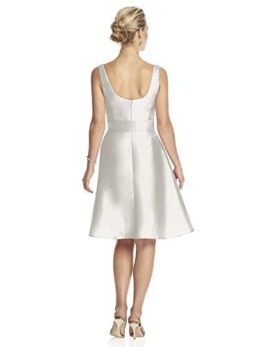 Alfred Chanté Cocktail Robe V-cou Féminin Avec Jupe Cercle En Blanc Neige - Taille 12