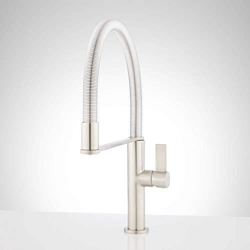 (Signature Hardware 430372 Balin 1.8 GPM Single Handle Pre-Rinse Kitchen Faucet)