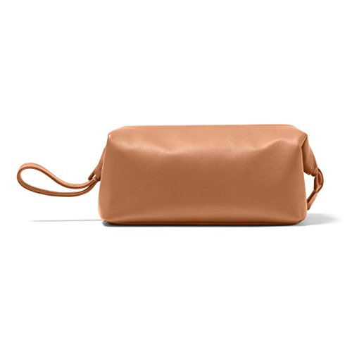 Leatherology Framed Toiletry Bag - Full Grain Leather - Cognac (brown) by Leatherology