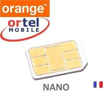 Francés Ortel de tarjeta SIM Nano SIM marca nuevo naranja red Francia: Amazon.es: Electrónica
