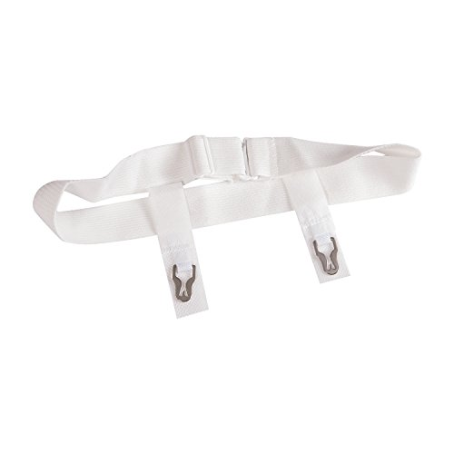 DMI Sanitary Belts with Adjustable Slide Closure, 18 to 42 Inches, White, (Pack of 72)