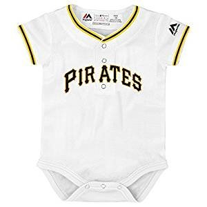 Outerstuff Pittsburgh Pirates White Newborn Infants Cool Base Home Creeper Jersey (12 Months)]()