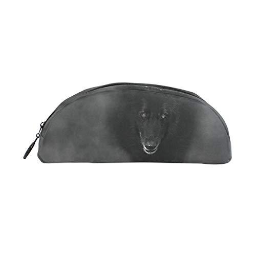 Pencil Case Belgian Sheepdog Walking Through Mist School Pen Pouch Office Zippered Makeup Bag Holder