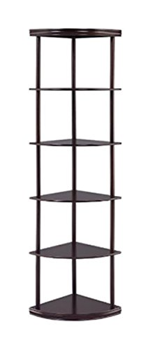 Coaster Corner Cappuccino Bookcase by Coaster Home Furnishings