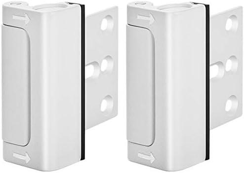 Home Security Door Lock, Upgrade Easy Open Childproof Door Reinforcement Lock with 3″ Stop Withstand 800 lbs for Inward Swinging Door, Add Extra Lock to Defend Your Home Safe (White)