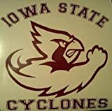 Iowa State Cyclones Burgundy Cornhole Decals - 2 Free Circles