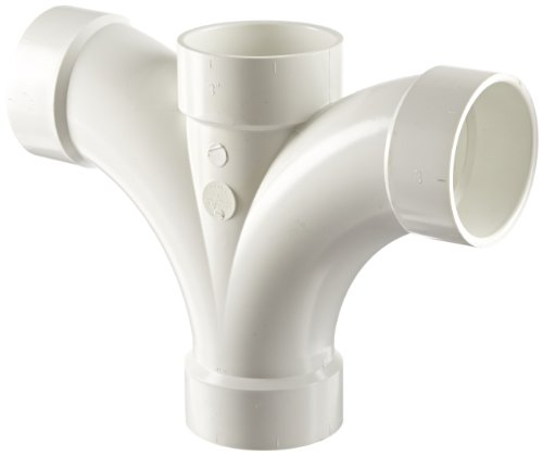 Spears P500 Series PVC DWV Pipe Fitting, Double Fixture Wye, 3
