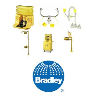 Bradley S19-270HW Chrome Plated Brass Plumbed Eyewash Station - Wall Mount [PRICE is per EACH]