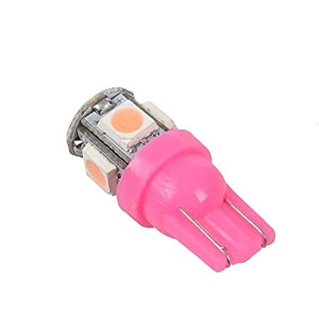 4x T10 501 W5W 5 SMD 5050 Xenon LED Side Interior Wedge Light Pink Body SODIAL Pink Light R