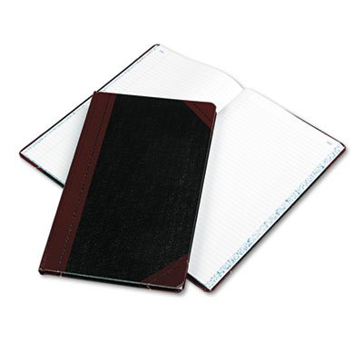 Boorum & Pease 9150R Record/Account Book, Black/Red Cover, 150 Pages, 14 1/8 x 8 5/8