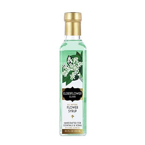 Floral Elixir Co. Floral Elixir Co. Elderflower Elixir - All Natural Syrup for Cocktails & Sodas price tips cheap