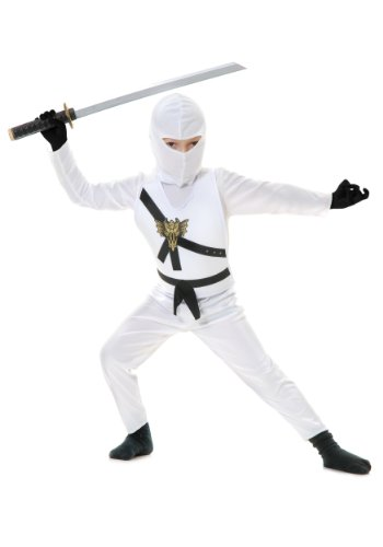 Big Boys' White Ninja Costume -