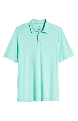Tommy Bahama Men's La Jolla Cove Polo (Large, Mint Mojito) (Tommy Bahama Lyocell Shirts)