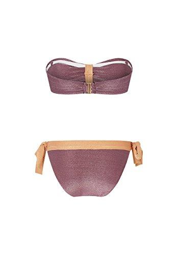 Canobio Nœuds, Traje de Baño Dos Piezas para Mujer Violet (LUREX MAUVE)