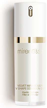 Mirenesse Skin Booster Velvet Maxi Sculpt V Shape Collagen Gel, Plumps Skin Elasticity, Line Filling with Rare Botanicals, Foundation Priming, Toxin Free, 1oz