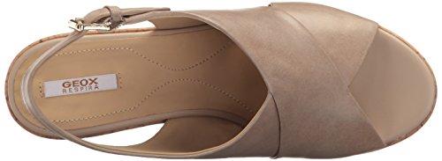 Geox D724SB000LC, Sandalias de tacón Mujer Hueso