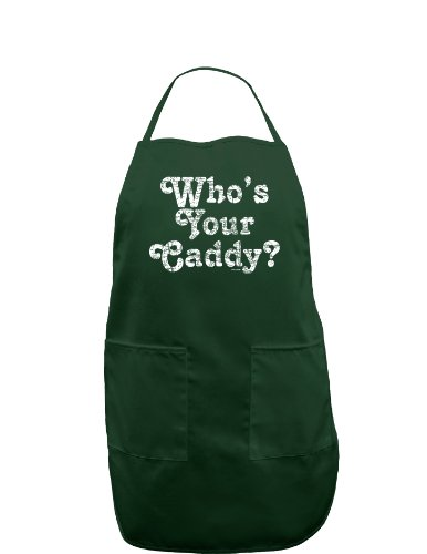 Who's Your Caddy Dark Adult Apron - Hunter - One-Size