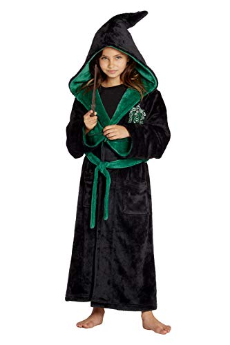 (INTIMO Harry Potter Costume Kids Plush Robe (Slytherin, Large,)