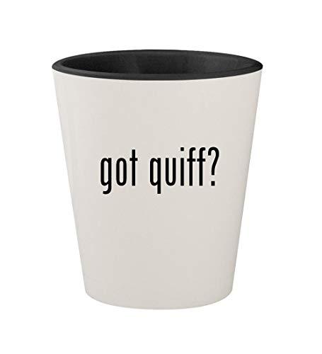 got quiff? - Ceramic White Outer & Black Inner 1.5oz Shot Glass
