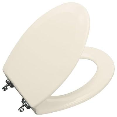 Triko Molded Elongated Toilet Seat with Polished Chrome Hinges