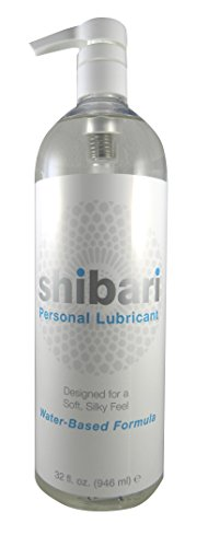 Shibari Water Based Personal Lubricant, 32oz with Pump (Best Things To Masturbate To)