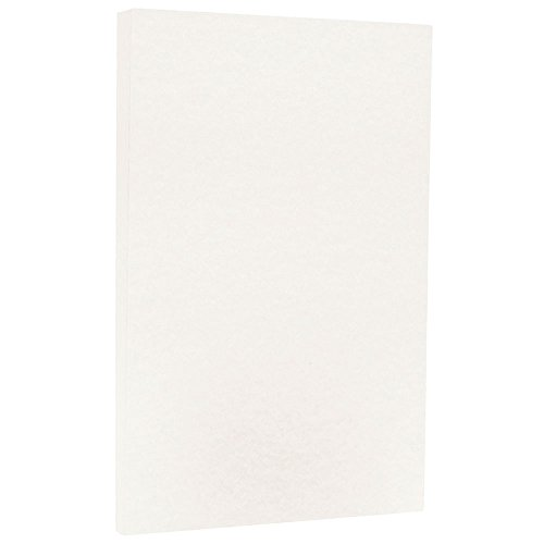 (JAM PAPER Legal Parchment 65lb Cardstock - 8.5 x 14 Coverstock - White - 50 Sheets/Pack)
