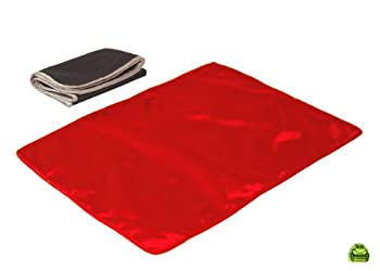 I Frogee Red Satin Diaper Changing Pad 18 x 13 Inch