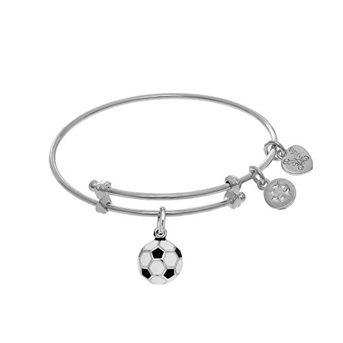 Angelica Soccer Ball Enamel Charm Expandable Tween Bangle Bracelet -  Angelica Collection