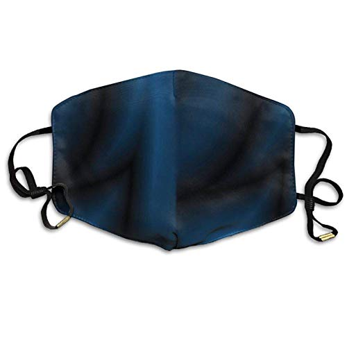 Dark Blue Satin Face Mouth Mask Earloop Dust Mask Outdoor Breathable Mask Pollution Flu Pollenm Germs Bacteria Virus