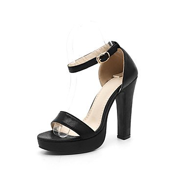 LvYuan Mujer-Tacón Robusto-Otro Zapatos del club-Sandalias-Informal-Semicuero-Negro Azul Plata Oro Black
