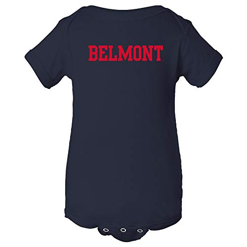 YC01 - Belmont University Bruins Basic Block Infant Creeper Bodysuit - 6 Month - Navy