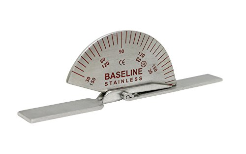 Baseline 12-1015 Finger Goniometer, Metal, Small, 3.5