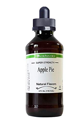 Apple Pie Flavoring 4 oz, by LorAnn Oils, with Glass Dropper (Liquid Apple Pie)