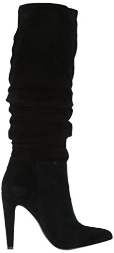 Madden Pointed Leather Womens Mid Calf Carrie Steve Toe Fashion Black Suede Boots dq4wxB