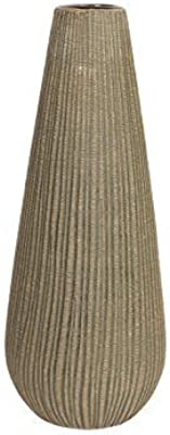 "Hosley's 12.5"" High Textured Ceramic Vase. Ideal Gift for Wedding, Special Occasions, Spa, Reiki, Study, Candle Gardens. O6"