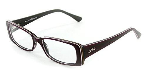 "Aloha Eyewear Unisex ""Mauna Kea"" Optical-Quality RX-Able Rectangular Frames 53x16x135mmn (Purple/Sand)"