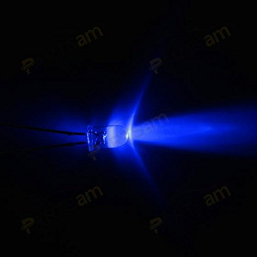 Partsam 20Pcs Blue 4.7mm Mini LED Bulbs Instrument Cluster Panel Backlight Gauge Lights 12V 95ma
