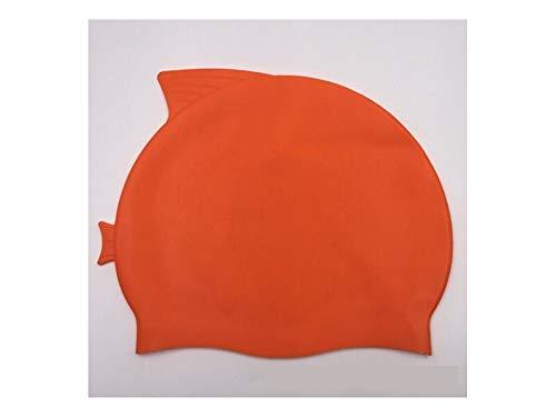 Flowerrs Cuffia da nuoto Cuffia da nuoto in silicone per bambini di spessore confortevole (arancione) Accesso al nuoto