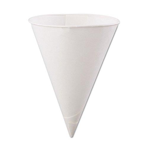 Konie Cups International Rolled-Rim Paper Cone Cups KCI60KBR
