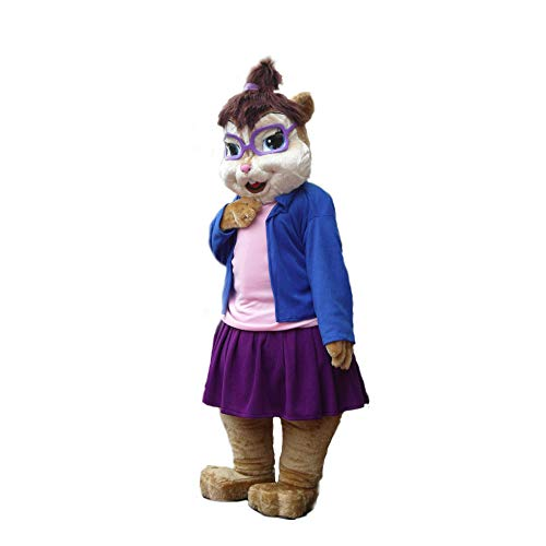 Jeannette Female Chipmunks Mascot Costume Character Cosplay Party Birthday Halloween]()