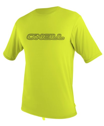 O'Neill Toddler Basic Skins UPF 50+ Short Sleeve Sun Shirt, Lime, 3
