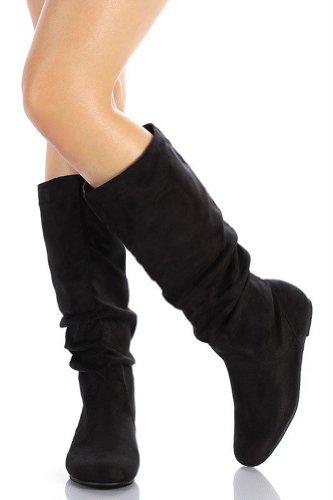SODA Womens Zulu-S Boot,Zuluuv2.0 Black Suede 7.5