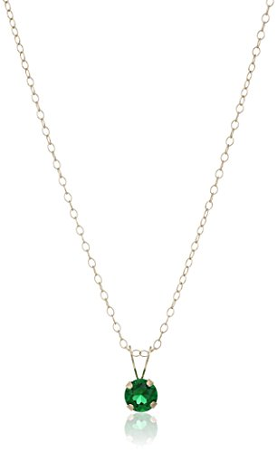 Girls Yellow Gold Pendant Necklace