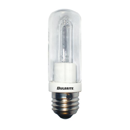 Frost Tubular Halogen Light Bulb - Bulbrite Q100CL/EDT 120-Volt Halogen JDD Type Tubular Medium E26 Bulb, 100-Watt