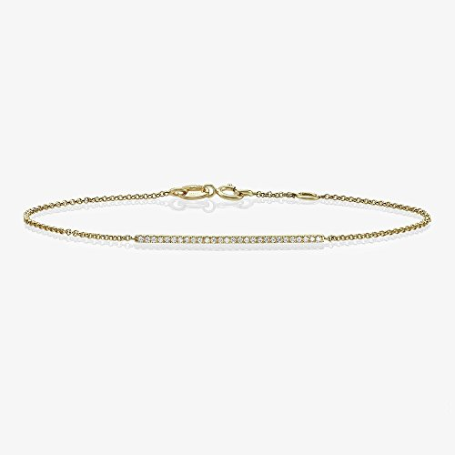 Bar Bracelet, Diamond Bar bracelet with Micro Pave Setting, Diamond bracelet, anniversary gift, minimalist jewelry (Pave Diamond Bezel)